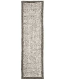 """Abstract 220 Sage and Ivory 2'3"""" x 8' Runner Area Rug"""
