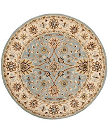 Antiquity At249 Mist and Ivory 8' x 8' Round Area Rug