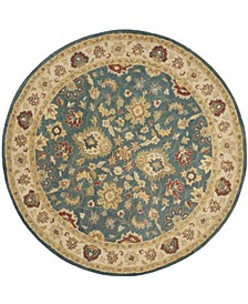 Antiquity At15 Blue and Beige 8' x 8' Round Area Rug