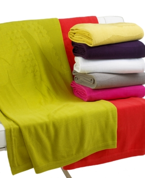 Image of Lacoste Home Crocoknit Throw Collection Bedding