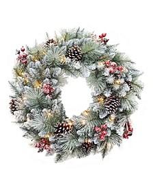 "30"" Glitter Mixed Pine Wreath"