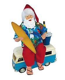Santa Ready to Ride the Wave