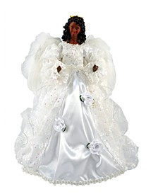 "16"" Black Wedding Dress Angel Tree Topper"