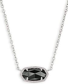 "Stone Pendant Necklace, 15"" + 2"" extender"