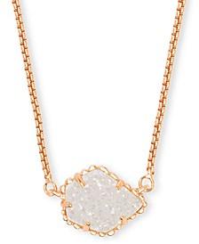 "Drusy Stone Pendant Necklace, 15"" + 2"" extender"