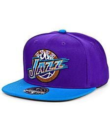 Utah Jazz Wool 2 Tone Fitted Cap