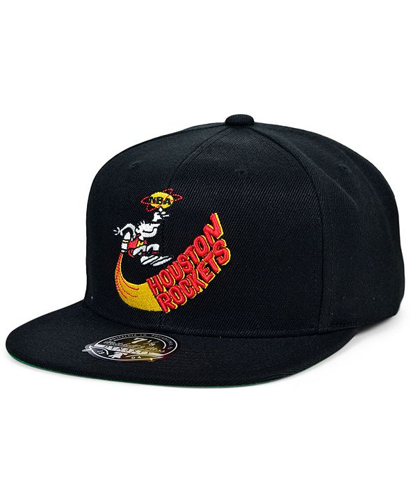Mitchell & Ness Houston Rockets Team Ground Fitted Cap