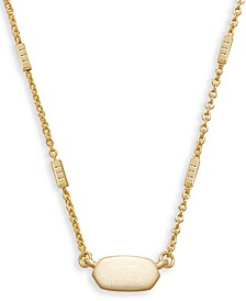 "Oval Pendant Necklace, 16"" + 2"" extender"