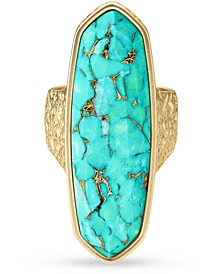 14k Gold-Plated Stone Statement Ring