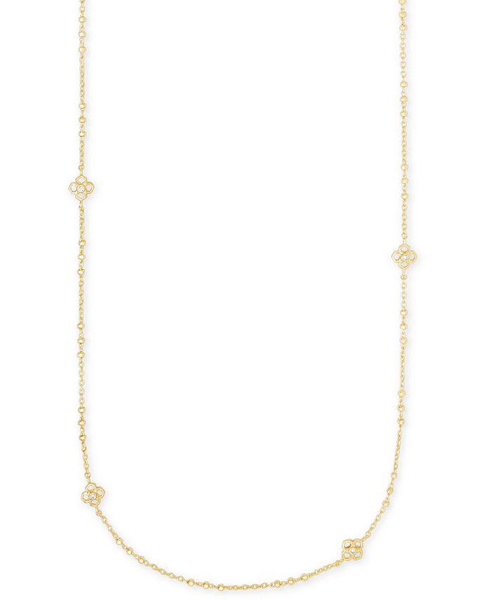 """Kendra Scott - Pavé Medallion 36"""" Station Necklace"""
