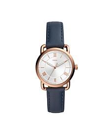 Women's Copeland Blue Leather Strap Watch 34mm