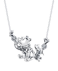 "Disney's Christopher Robin Pooh & Piglet 20"" Pendant Necklace in Sterling Silver"