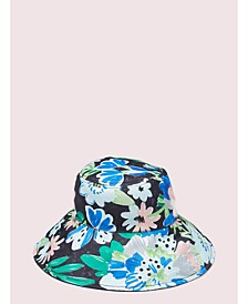 Full Bloom Long Brim Reversible Bucket Hat
