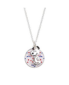 """Fine Silver Plated """"Snoopy"""" Americana Fireworks Pendant Necklace, 16""""+2"""" for Unwritten"""