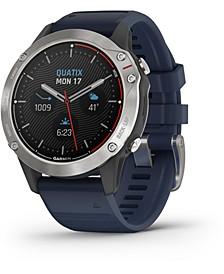 Unisex Quatix 6 Blue Silicone Strap Smart Watch 47mm
