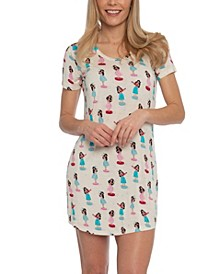Hula Girl Sleepshirt Nightgown, Online Only