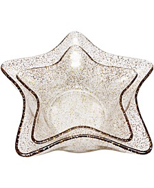 Holiday Cheer Glitter Star Bowls, Set of 2, Created for Macy's