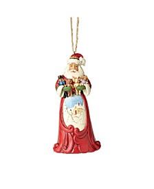 Santa Hugging Stuffed Animals Ornament