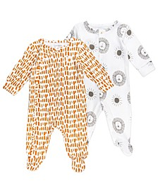 Baby Boys and Girls 2-Pack Footed Sleepsuits