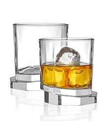 Aqua Vitae Off Base Octagon Whiskey Glasses, Set of 2