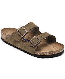 Men's Arizona Suede Leather Soft Footbed Casual Sandals from Finish Line