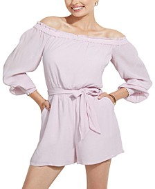 Mellie Off-The-Shoulder Romper