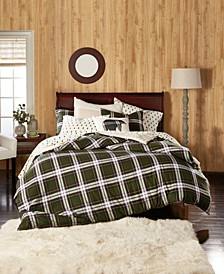 Newfield Plaid Cotton Flannel Reversible Comforter Sets