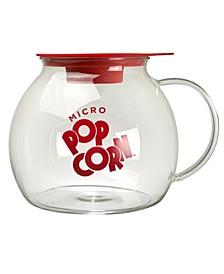 Ecolution Original Microwave Micro-Pop Popcorn Popper, Borosilicate Glass, 3-in-1 Silicone Lid, Dishwasher Safe, BPA Free, 3 Quart