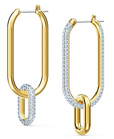 Gold-Tone Crystal Link Convertible Earrings