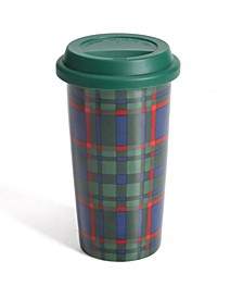 Green Plaid Travel Mug, Created for Macy's