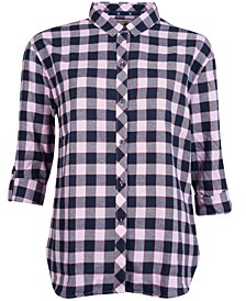 Cassins Check Print Cotton Shirt