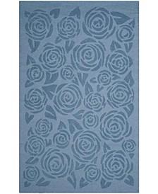 Block Print Rose MSR4618B Mist 9' x 12' Area Rug