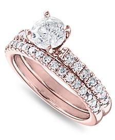 IGI Certified Diamond (1-1/2 ct. t.w.) Bridal Set in 14K White, Yellow or Rose Gold