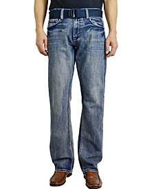 Men's Fashion Regular Fit Straight Leg Jeans