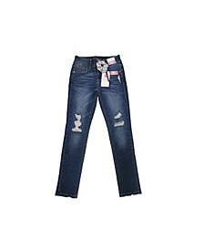 Big Girls Fashion Jeans with Scrunchie
