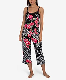 Marabel Patch Cropped Pajama Set