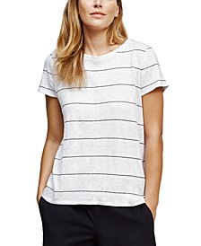 Organic Linen Striped T-Shirt