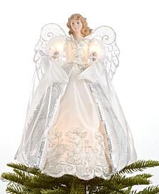 Light up White Shimmer Angel Tree Topper, Created for Macy's