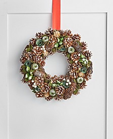 Birds & Boughs Pine cone Christmas Wreath, Created for Macy's