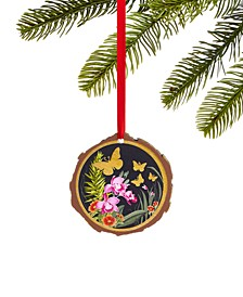 Bugs & Botanical Butterfly Disc Ornament, Created for Macy's