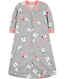 Baby Girls Floral-Print Fleece Sleep Bag