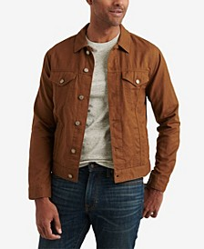 Men's Linen Blend Trucker Jacket