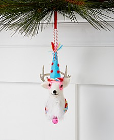Merry & Brightest Felt Reindeer Head Ornament, Created for Macy's