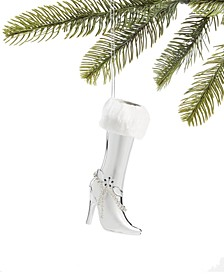Fashion Week, Silver High Heel Boot Ornament, Created for Macy's