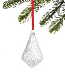 Snowdaze White Drop Ornament, Created for Macy's