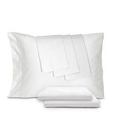 400 Thread Count Percale Blend Woven Dot Queen 6-Pc. Sheet Set