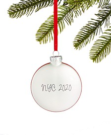 New York 2020 Glass Ornament, Created for Macy's