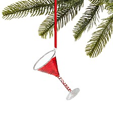 Peppermint Twist Red Martini Ornament, Created for Macy's
