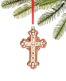 Renaissance Molded Glass Cross Ornament, Created for Macy's