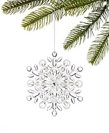 Snowdaze, Clear Acrylic Snowflake Ornament, Created for Macy's